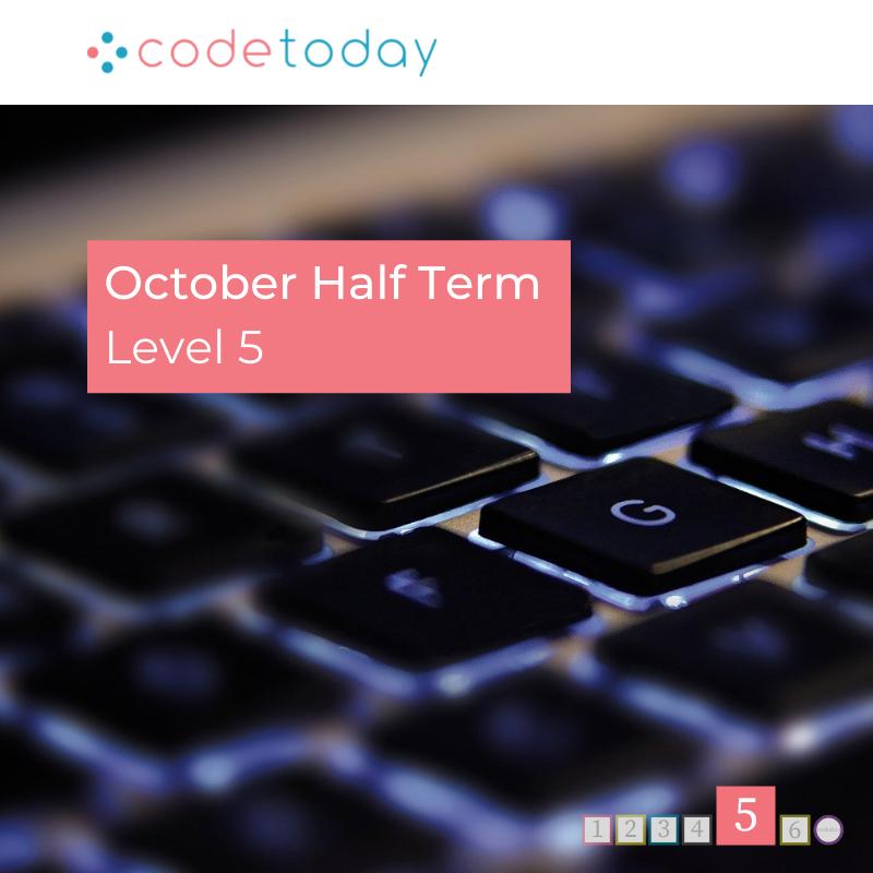 LEVEL 5 | Live Online Coding in Python | October Half Term 2021
