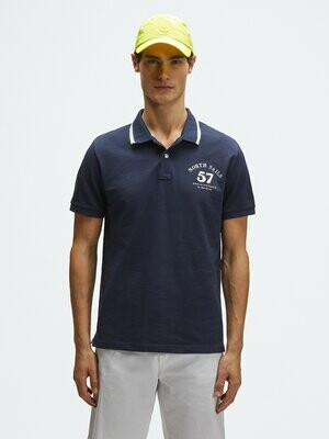 Polo uomo navy North Sails in piquet di cotone