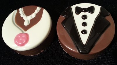 Wedding Chocolate Covered Oreos - Half Dozen (6)