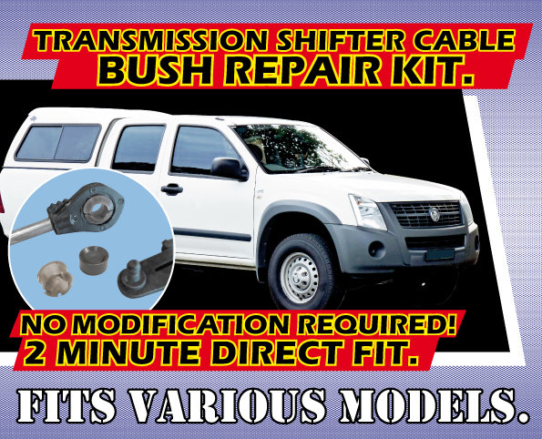 RA Rodeo, DMAX, & Corolla AE100 Transmission Shifter Cable Bush Repair Kit.