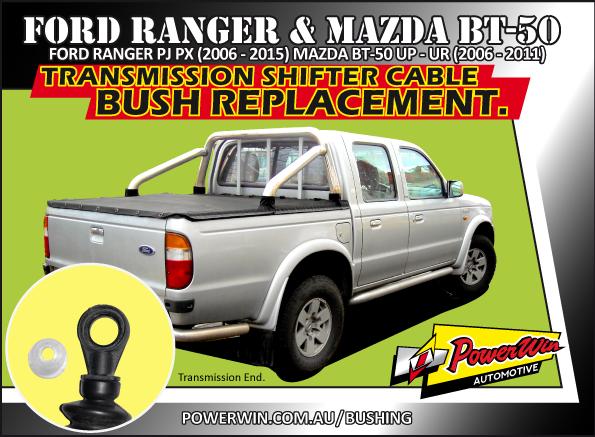Ford Ranger & Mazda BT-50 Transmission shift cable end bush.