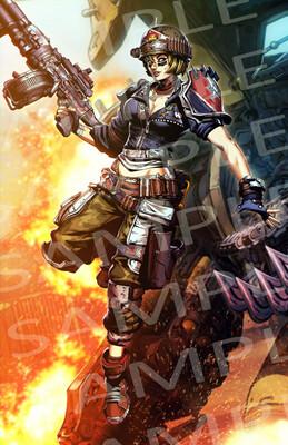 *CONVENTION EXCLUSIVE* Borderlands 3: Moze - Autographed Poster