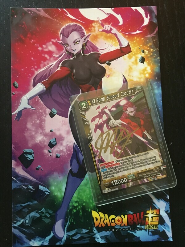 Dragon Ball Super: Cocotte - Signed Autograph Card & Trading Card Bundle