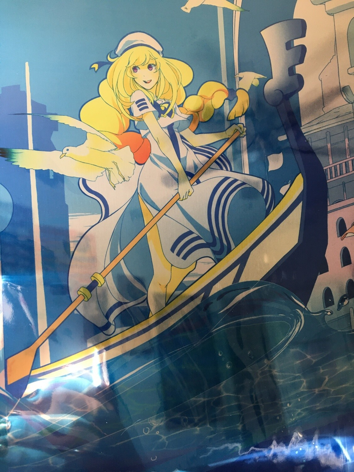 *LAST SALE* Aria the Animation: Alicia Florence - Signed METAL Autograph Card