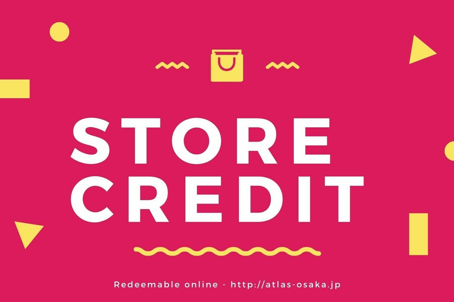 Gift card - Store Credit