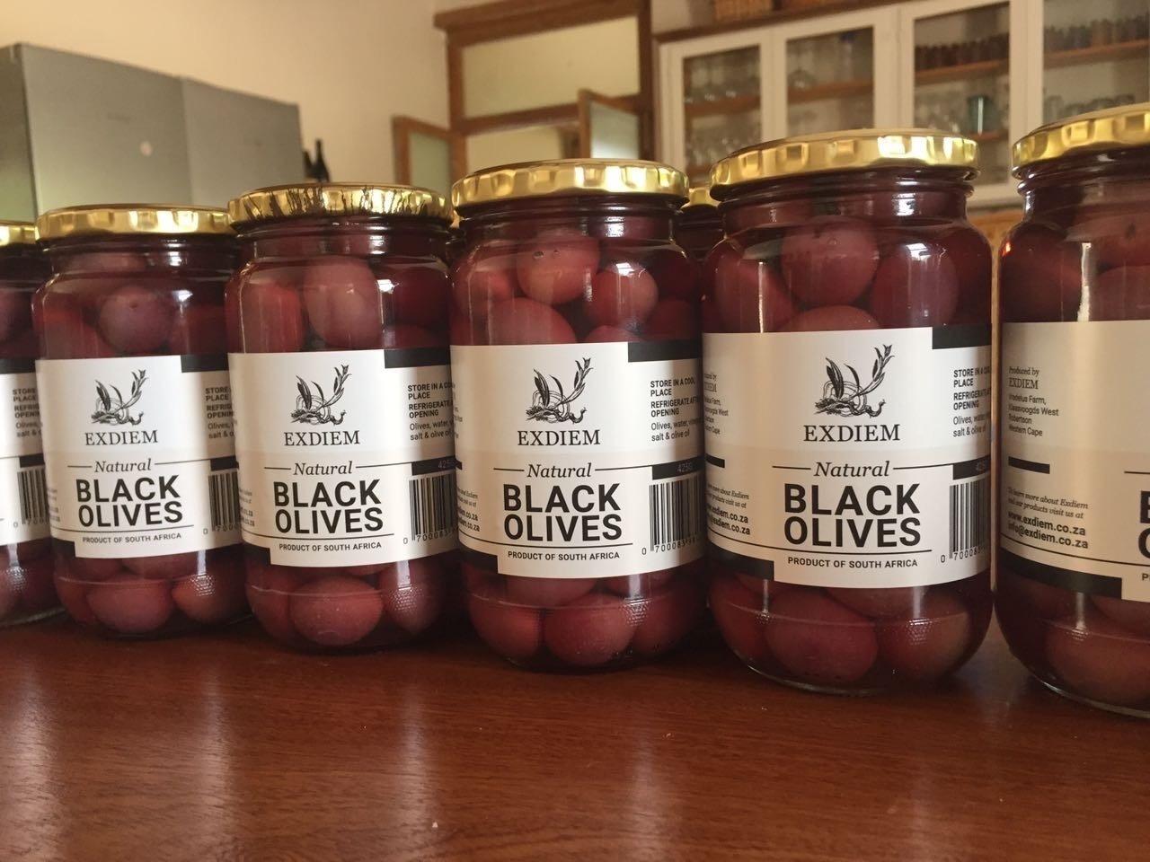 425g Black Table Olives