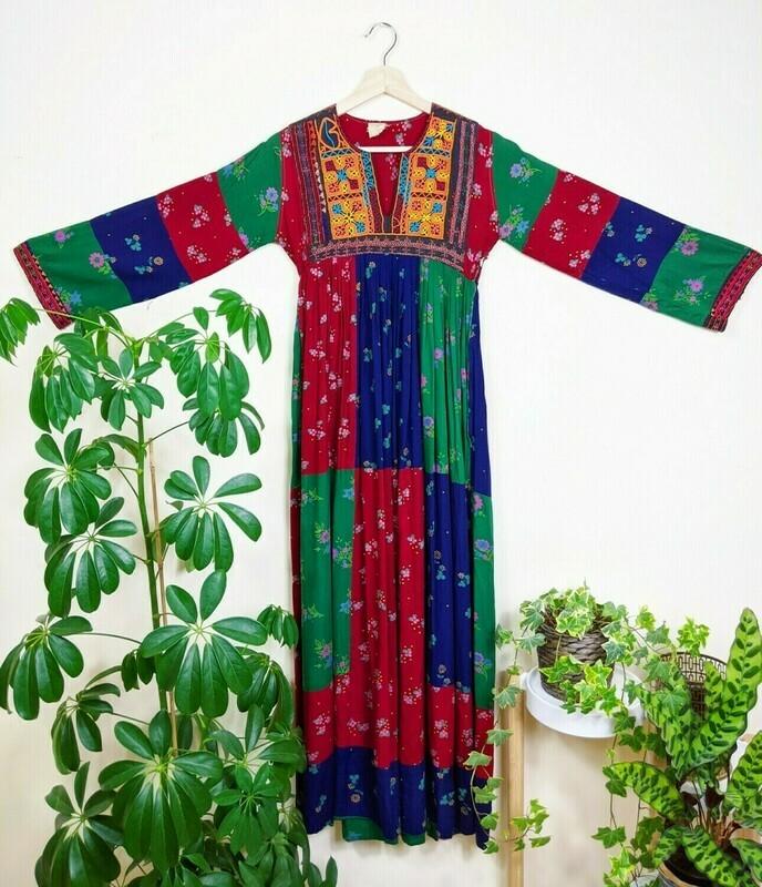 RARE VINTAGE 1970S AFGHAN DRESS