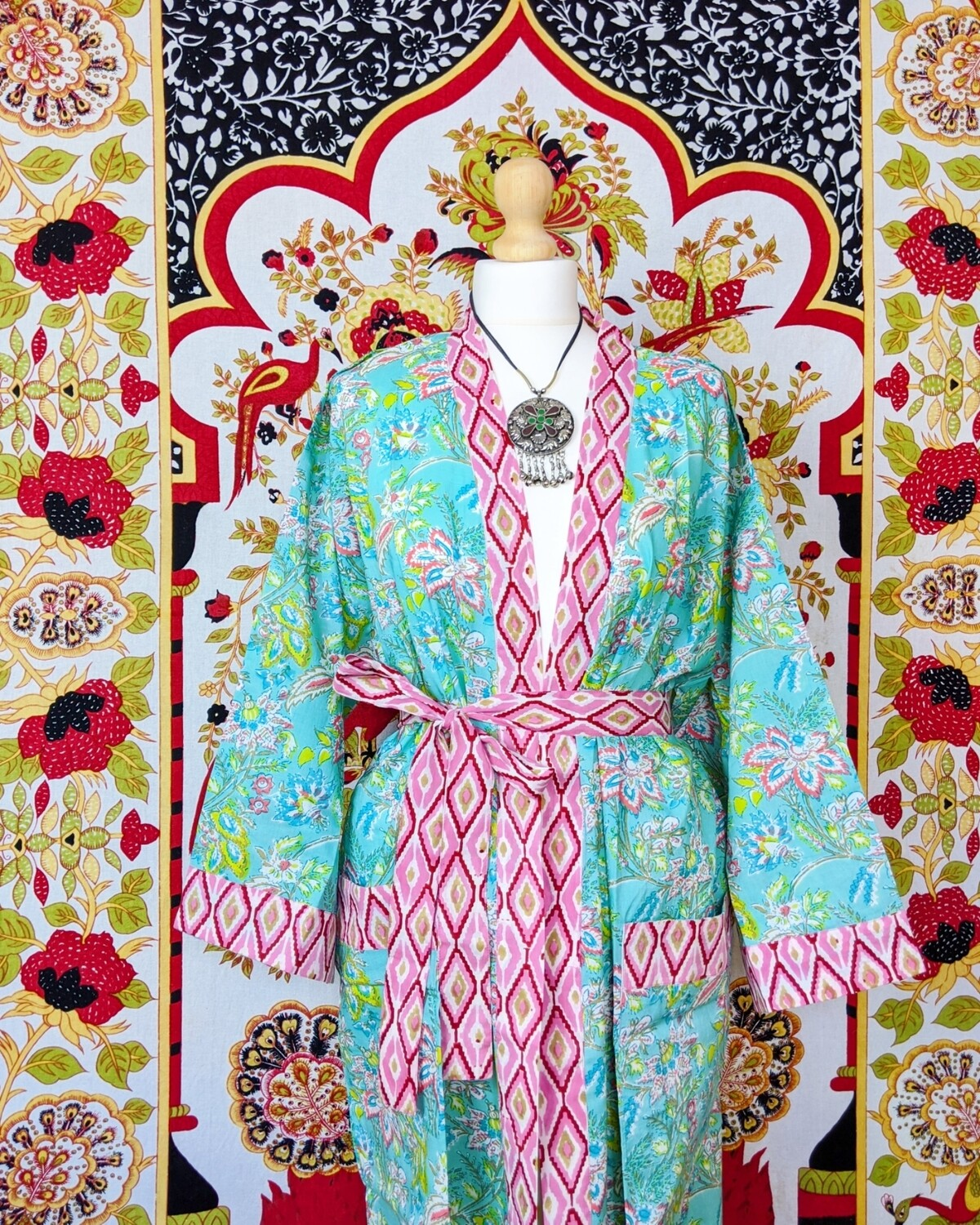 ✻ QUARTZ ✻ BLOCK PRINT ROBE