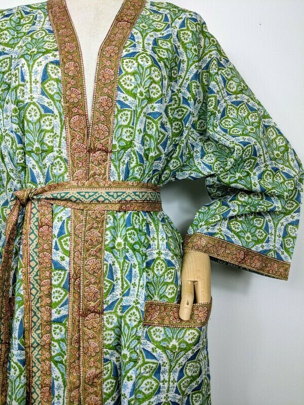 'PEACOCK FEATHER' LOUNGEWEAR ROBE