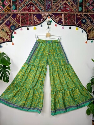 RECYCLED SILK FLARES