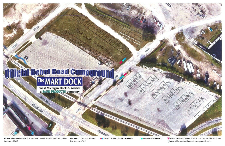 Rebel Road Camping by the Mart Dock - Online Registration