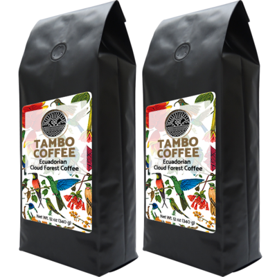 Coffee from Ecuadorian Cloud Forest - Combo Roast Whole Coffee Beans