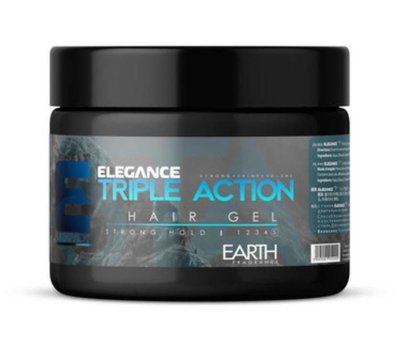 Triple Action Hair Gel Earth Fragrance (Strong Hold) - 250ml
