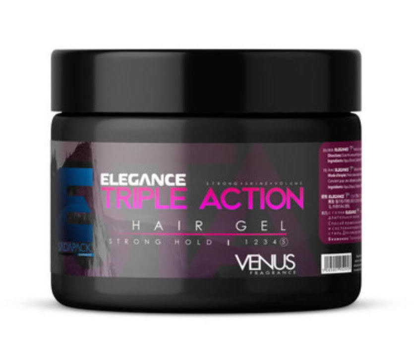 Triple Action Hair Gel Venus Fragrance (Strong Hold) - 250ml
