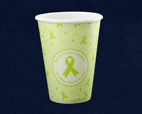 Limited Supply! Lime Green Ribbon Beverage Cups (Packs of 25)