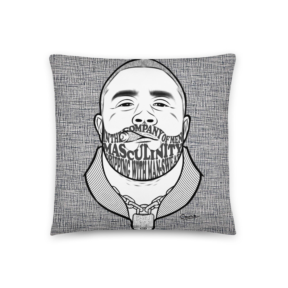 Square Pillow (In the Company of Men)