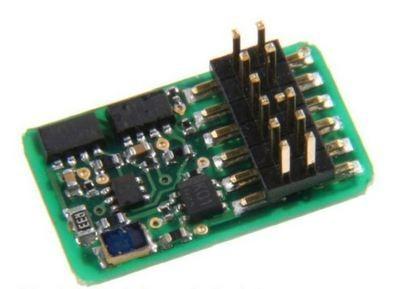 Uhlenbrock 73145 IntelliDrive 2 - Decodificador digital para locomotoras N, TT, H0e y pequeñas H0, PluX12
