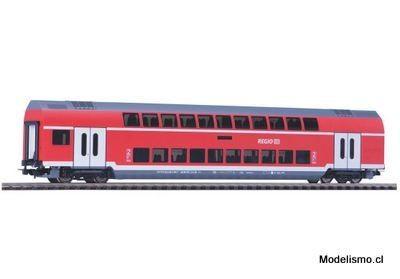 Piko H0 58803 vagón de 2ª clase de dos pisos en la versión de DB Regio en la época VI