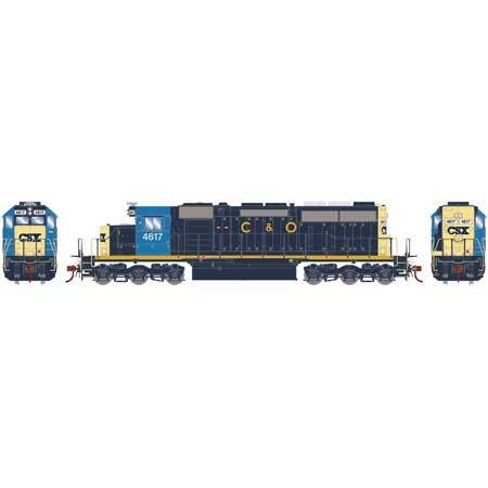 Athearn RTR 86731 H0 SD40, CSX/Ex-C&O #4617