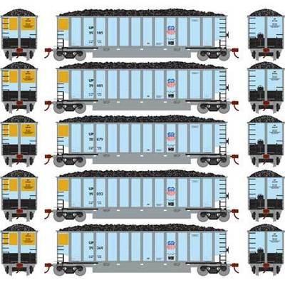 Athearn RTR 81553 H0 Bethgon Coalporter con carga, Union Pacific #1 (5 piezas)