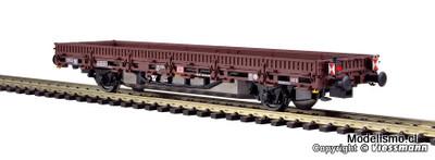 Viessmann 2310 H0 vagón de bordes bajos, la unidad de accionamiento, modelo marrón, funcional para la versión 2 del carril