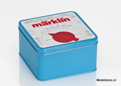 """Märklin 12509 Caja de galletas """"Transformador azul"""""""