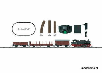 """Trix H0 21528 Caja de iniciación en digital """"Tren mercancías de la Época III"""" con Mobile Station"""