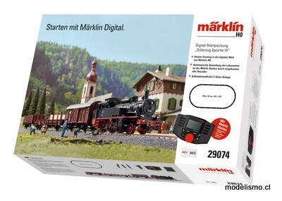 """Märklin 29074 Caja de iniciación en digital """"Tren mercancías de la Época III"""". 230 V"""