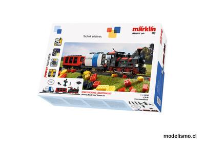 """Märklin 29730 Märklin Start up: caja de iniciación """"Tren modular"""" con módulos de luz y sonido.  Compatible con LEGO"""