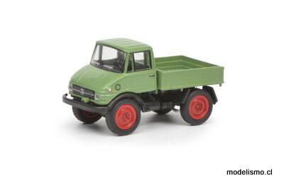 Reserva anticipada Schuco 452641900 MB Unimog 406, verde claro