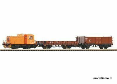 Piko H0 59022 Conjunto PIKO SmartControllight con balasto, tren de carga DR con TGK2