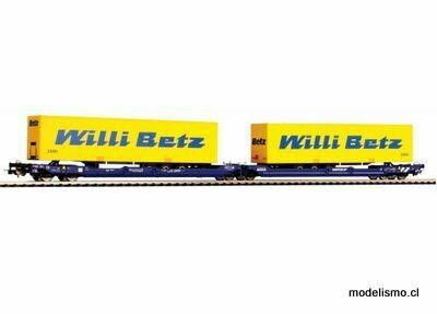 """Piko H0 58955 vagone T3000e Nacco con 2 trailers de """"Willi Betz"""""""