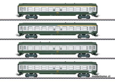 """Märklin 40691 Set de coches de expreso francés """"Tin Plate"""""""