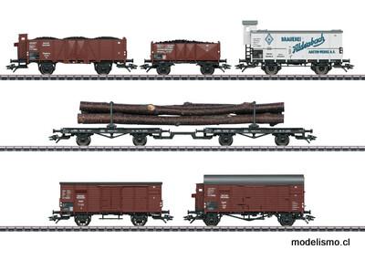 Märklin 46017 Set de vagones de mercancías a juego con lalocomotora de vapor serie BR 95