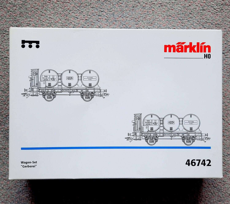 Märklin H0 46742 vagones curtiduria usado