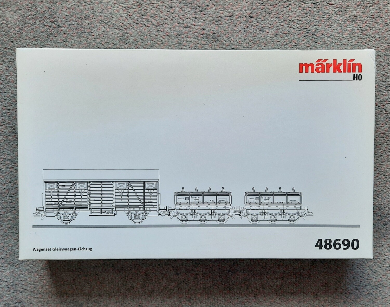 Reserva anticipada Märklin H0 48690 Juego de vagones de tren de tarado de básculas para material rodante. usado