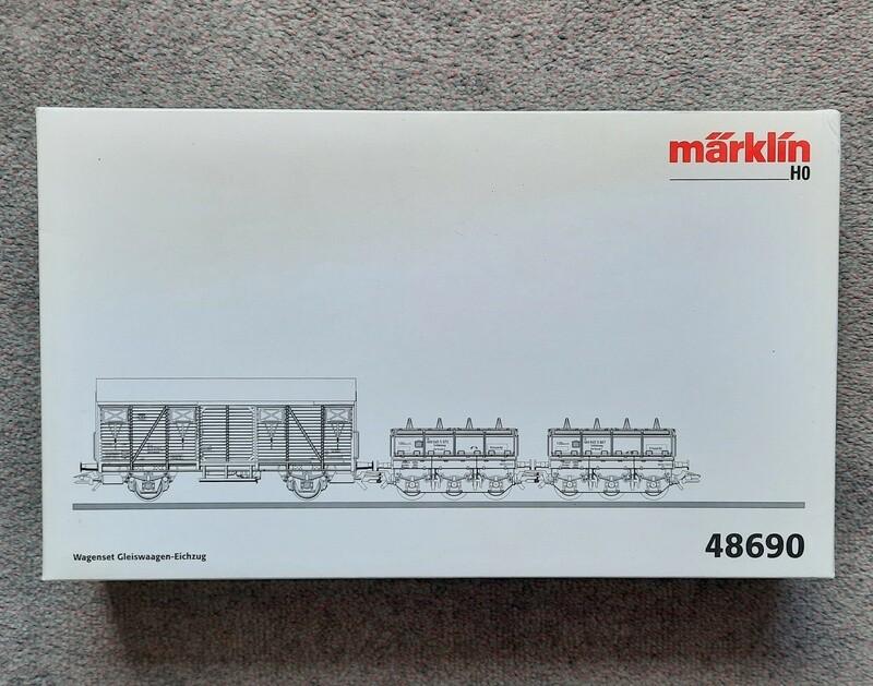 Märklin H0 48690 Juego de vagones de tren de tarado de básculas para material rodante. usado