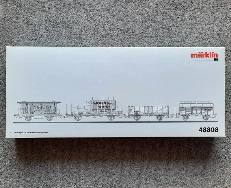 Märklin H0 48808 Juego de vagones antiguos de Wurtemberg usado