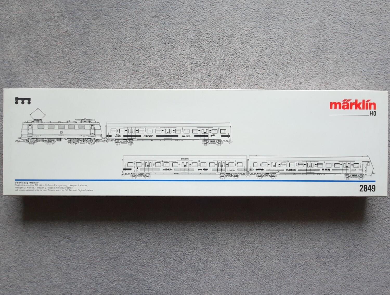 """Märklin H0 2849 Conjunto de tren S-Bahn """"Märklin"""" usado"""