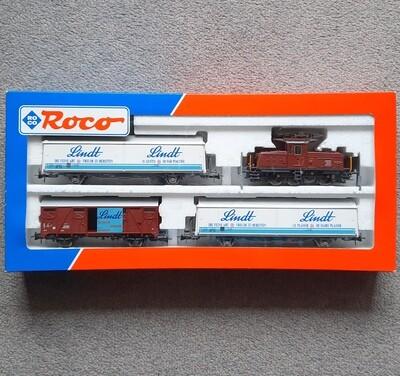 Reserva anticipada Roco H0 41089 Conjunto de trenes SBB Ee3/3 Lindt usado