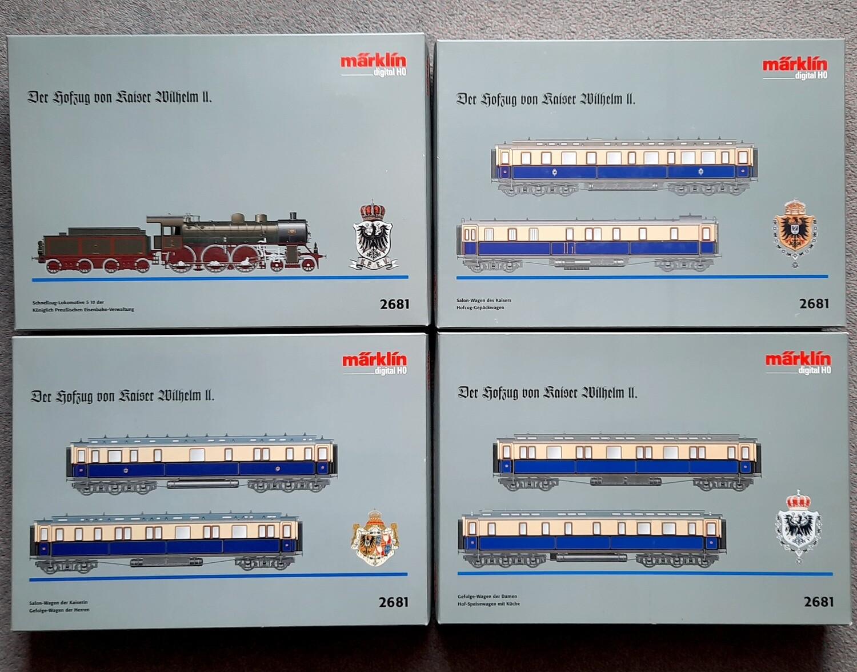 """Reserva anticipada Märklin H0 2681 Tren de la corte """"Kaiser Wilhelm II"""" usado"""