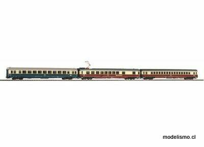 Piko H0 58386 Conjunto de 3 coches de pasajeros IC 2a clase + 1a clase + coche comedor DB IV