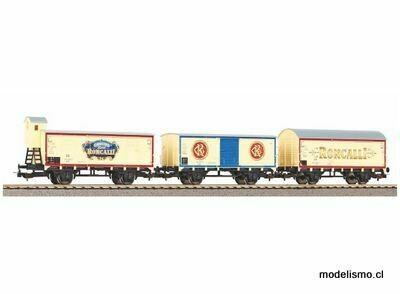 """Piko H0 58374 Juego de 3 vagones de mercancías """"Roncalli"""" DB III"""