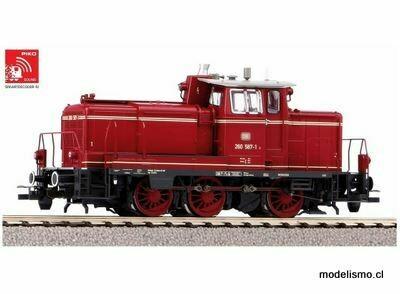 Piko H0 55906 Locomotora diésel sonora BR 260, que incluye decodificador de sonido PIKO y acoplamiento digital