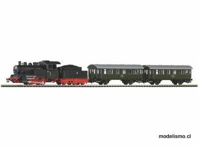 Piko H0 97933 Juego de arranque para locomotora de vapor con vagones de pasajeros PKP