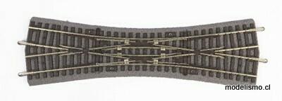 Piko H0 55424 Punto de cruce doble DKW con ropa de cama