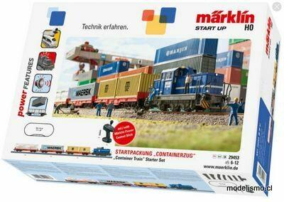 """Reserva anticipada Märklin H0 29453 Märklin Start up - Caja de iniciación """"Tren portacontenedores"""""""