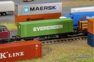Faller N 272843 Contenedor Hi-Cube de 40 EVERGREEN