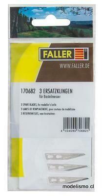 Faller 170682 3 hojas de repuesto para cuchillo artesanal artículo 170687