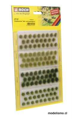 """Noch 07127 Mechones de hierba """"verde claro y oscuro"""", diferentes tonos de verde, 104 piezas, 6 mm"""